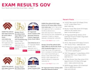 examresult-gov.in screenshot