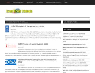 examresultethiopia.com screenshot