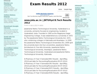 examresults2012.co.in screenshot