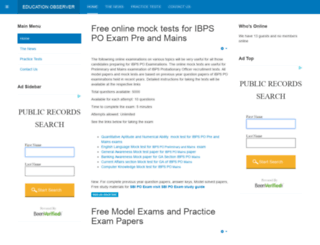 exams.educationobserver.com screenshot