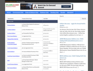 examsalert.com screenshot