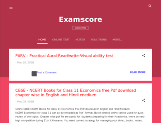 examscore.in screenshot