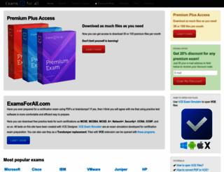 examsforall.com screenshot