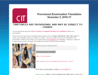 examtimetables.cit.ie screenshot