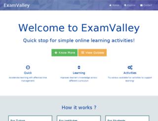 examvalley.com screenshot