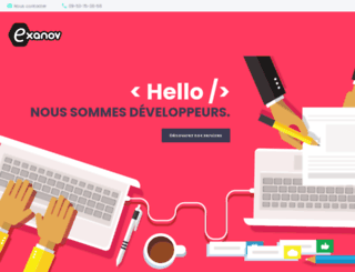 exanov.fr screenshot