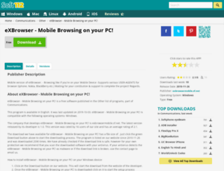 exbrowser-mobile-browsing-on-your-pc.soft112.com screenshot