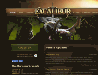 excalibur.la screenshot