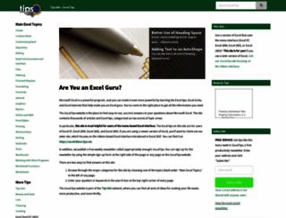 excel.tips.net screenshot