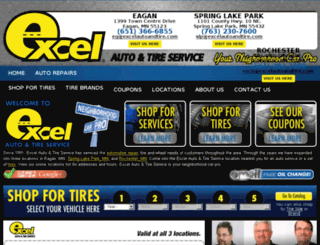 excelautoandtire.com screenshot