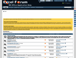 excelforum.com screenshot