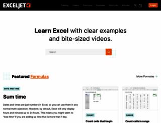 exceljet.net screenshot