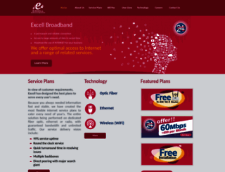 excellbroadband.com screenshot