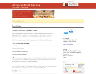 exceltraining5.doattend.com screenshot