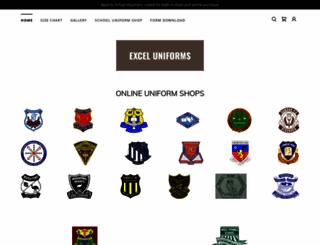 exceluniforms.com.au screenshot