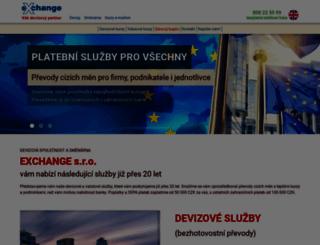 exchange.cz screenshot