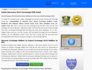 exchange2010emailrecovery.edbpstconverter.com screenshot