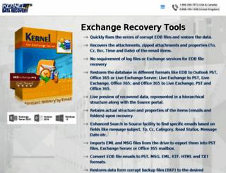 exchangedatabaserecovery.co.uk screenshot