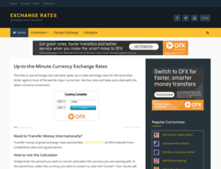 exchangerates.net.au screenshot