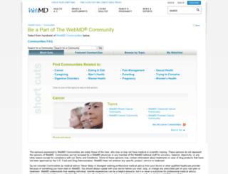 exchanges.webmd.com screenshot