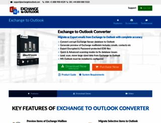exchangetooutlook.com screenshot