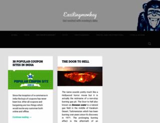 excitingmonkey.wordpress.com screenshot