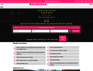 exclusiveairport.com screenshot
