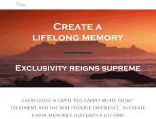exclusivecapetours.com screenshot