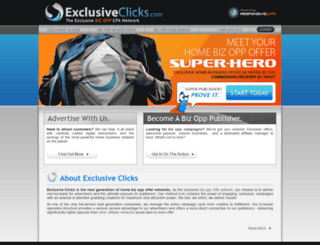 exclusiveclicks.com screenshot