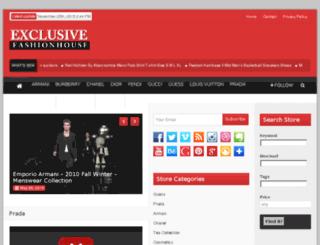 exclusivefashionhouse.com screenshot