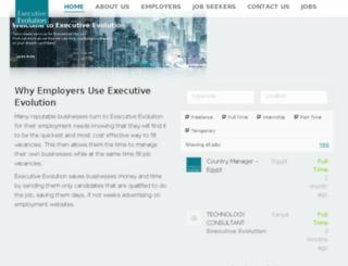 executive-evolution.ae screenshot