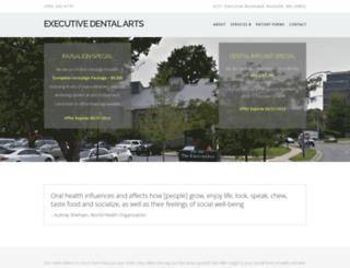executivedentalarts.com screenshot