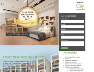 executivefloors.wavecity.in screenshot