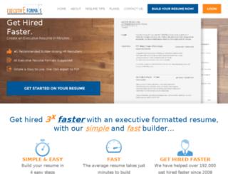 executiveformats.com screenshot