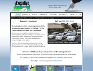 executivejanitorial.net screenshot