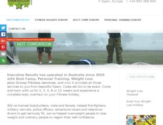 executiveresults.com.au screenshot