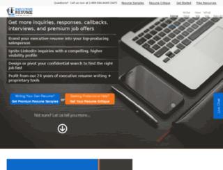 executiveresume.hs-sites.com screenshot