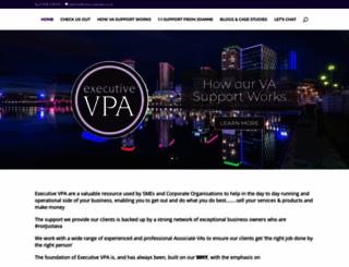 executivevpa.co.uk screenshot