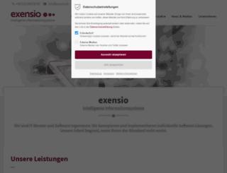exensio.de screenshot