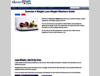 exercise4weightloss.com screenshot
