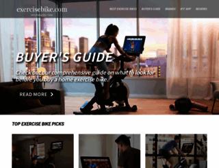 exercisebike.com screenshot