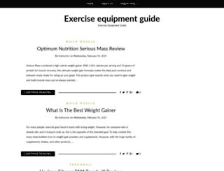 exerciseequipmentguide.org screenshot