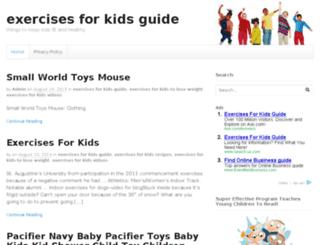 exercisesforkidsguide.com screenshot