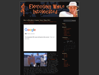 exercisingwhileintoxicated.wordpress.com screenshot