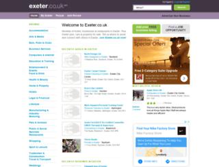 exeter.co.uk screenshot