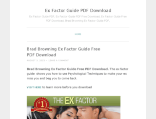 exfactorguidedownload.wordpress.com screenshot