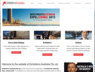 exhibitionsaustralia.com.au screenshot