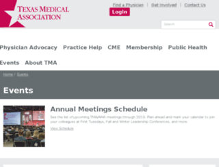 exhibitors.texmed.org screenshot
