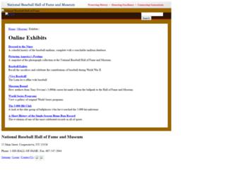 exhibits.baseballhalloffame.org screenshot