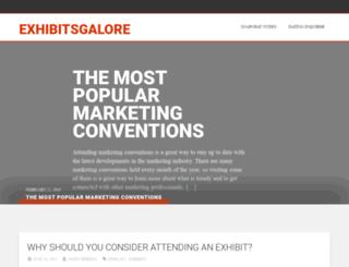 exhibitsgalore.com screenshot